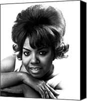 Rhythm And Blues Canvas Prints - Mary Wells, 1943-1992, American R&b Canvas Print by Everett