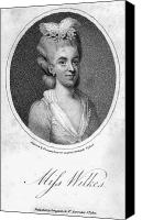 Hairstyle Canvas Prints - Mary Wilkes (1750-1802) Canvas Print by Granger
