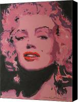 Singer Painting Canvas Prints - Marylin Monroe Canvas Print by Eric Dee