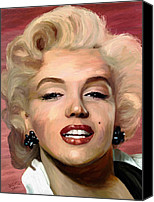 Monroe Canvas Prints - Marylin Monroe Canvas Print by James Shepherd