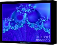Queen Of Heaven Canvas Prints - Marys Veil Fractal 60 Canvas Print by Rose Santuci-Sofranko