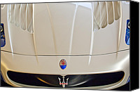 Sports Car Canvas Prints - Maserati Hood Emblem Canvas Print by Jill Reger