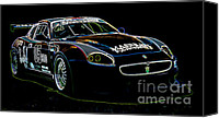 Track Racing Canvas Prints - Maserati Canvas Print by Sebastian Musial
