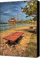 Attraction Digital Art Canvas Prints - Masjid Putra Canvas Print by Adrian Evans