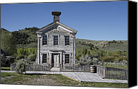 Pioneers Canvas Prints - Masonic Temple 3 - Bannack Montana Canvas Print by Daniel Hagerman
