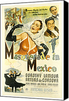 Fod Canvas Prints - Masquerade In Mexico, Dorothy Lamour Canvas Print by Everett