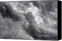 Thunderclouds Canvas Prints - Masses Of Dark Clouds Canvas Print by Michal Boubin