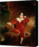 Kid Painting Canvas Prints - Master Charles William Lambton Canvas Print by Sir Thomas Lawrence
