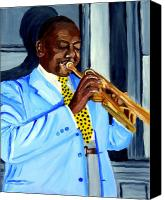 Sax Art Painting Canvas Prints - Master Of Jazz Canvas Print by Michael Lee