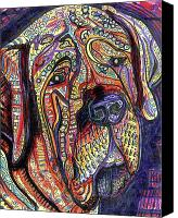 Neo Expressionism Canvas Prints - Mastiff Canvas Print by Robert Wolverton Jr