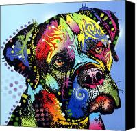 Dean Russo Mixed Media Canvas Prints - Mastiff Warrior Canvas Print by Dean Russo