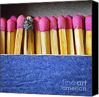 Burnt Canvas Prints - Matchbox Canvas Print by Carlos Caetano