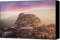 Fineartam Canvas Prints - Matera Sassi Canvas Print by Michael Avory