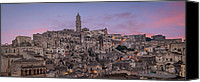 Fineartam Canvas Prints - Matera Skyline Canvas Print by Michael Avory