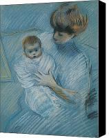 Sat Canvas Prints - Maternity Canvas Print by Paul Cesar Helleu