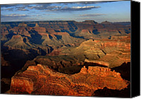 Southwest Canvas Prints - Mather Point - Grand Canyon Canvas Print by Stephen  Vecchiotti