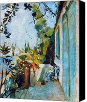 Modern Art Canvas Prints - Matisse Terrace 1904 Canvas Print by Granger