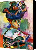Modern Art Canvas Prints - Matisse: Woman W/hat, 1905 Canvas Print by Granger
