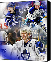Toronto Maple Leafs Canvas Prints - Mats Sundin Canvas Print by Mike Oulton