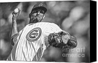 Wrigley Field Canvas Prints - Matt Garza Canvas Print by David Bearden