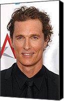 Awards Canvas Prints - Matthew Mcconaughey At Arrivals Canvas Print by Everett