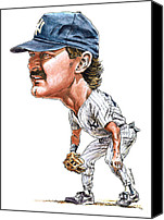 Sports Prints Canvas Prints - Mattingly Canvas Print by Tom Hedderich