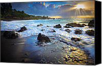 Pebbles Photo Canvas Prints - Maui Dawn Canvas Print by Inge Johnsson