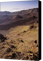 Mauna Kea Canvas Prints - Maui, Haleakala Crater Canvas Print by Mary Van de Ven - Printscapes