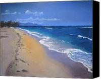 Landscapes Pastels Canvas Prints - Maui Canvas Print by Jan Fontecchio Perley