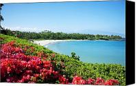 Mauna Kea Canvas Prints - Mauna Kea Beach Canvas Print by Ron Dahlquist - Printscapes