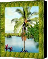 Palm Trees Canvas Prints - Mauna Lani Palm II Canvas Print by Kurt Van Wagner