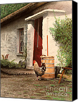 Wash Pastels Canvas Prints - Maureens Cottage Canvas Print by Colleen Quinn