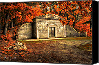 Fall Canvas Prints - Mausoleum Canvas Print by Bob Orsillo