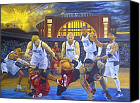 Los Angeles Lakers Canvas Prints - Mavericks Defeat The King and His Court Canvas Print by Luis Antonio Vargas
