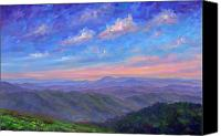 Overlook Canvas Prints - Max Patch North Carolina Canvas Print by Jeff Pittman
