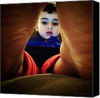 Children Photo Canvas Prints - Max: Portrait Of A Child (3) Canvas Print by Natasha Marco