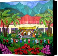 May Day Painting Canvas Prints - May Day at Hanalei Canvas Print by Jerri Grindle