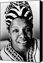 Maya Canvas Prints - Maya Angelou, Circa 1976 Canvas Print by Everett