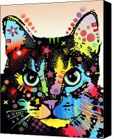 Kitty Canvas Prints - Maya Warrior Canvas Print by Dean Russo