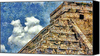 Maya Canvas Prints - Mayan Mysteries Canvas Print by Jeff Kolker