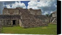 Indian Ruins Canvas Prints - Mayan ruins 2 Canvas Print by Michael Peychich