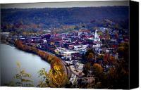Birdseye Canvas Prints - Maysville Kentucky Canvas Print by Susie Weaver