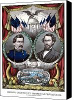 Campaign Canvas Prints - McClellan and Pendleton Campaign Poster Canvas Print by War Is Hell Store