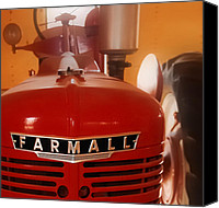 Red Tractors Canvas Prints - McCormick Farmall Tractor - Model H Canvas Print by Steven Milner
