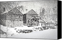 Snow Scenes Photo Canvas Prints - McCormicks Farm February 2012 Series VI Canvas Print by Kathy Jennings
