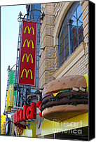 Junk Canvas Prints - McDonalds Hamburger Restaurant . Fishermans Wharf . San Francisco California . 7D14249 Canvas Print by Wingsdomain Art and Photography