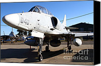 Us Navy Fighters Canvas Prints - McDonnell Douglas TA-4J Skyhawk Aircraft Fighter Plane . 7D11303 Canvas Print by Wingsdomain Art and Photography