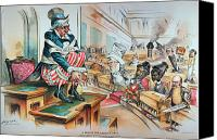 Caricature Canvas Prints - McKINLEY TARIFF ACT, 1894 Canvas Print by Granger