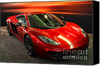 Transportation Tapestries Textiles Canvas Prints - McLaren MPH-12C Sportscar Canvas Print by Wingsdomain Art and Photography