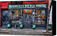 Pub Canvas Prints - McSorleys  in Color Canvas Print by Randy Aveille